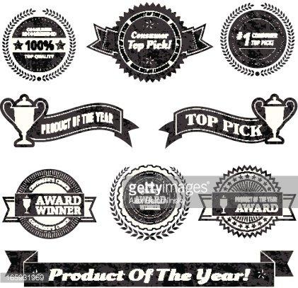 Commerce Best Buy Award Winner Black  White Icon Set premium