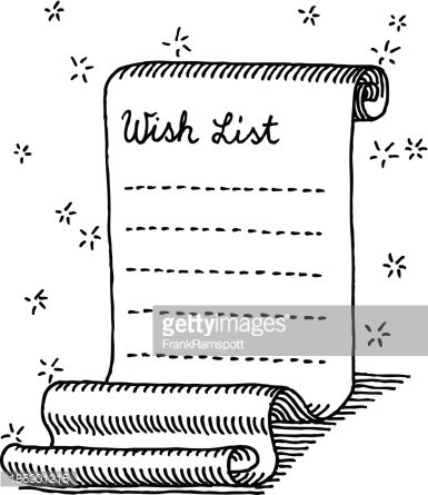 Christmas Wish List Curly Paper Drawing premium clipart - christmas wish list paper
