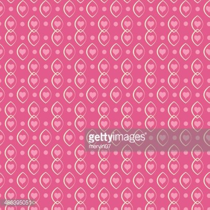 Pink Background With Valentine Hearts Seamless Pattern premium