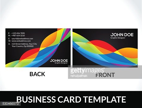 Abstract Rainbow Business Card Template premium clipart