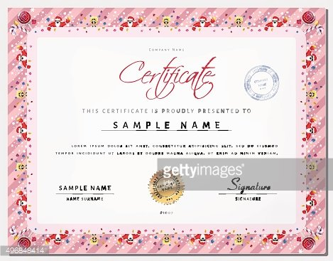 Christmas Certificate Template With Border AS Xmas Happy New Year - christmas certificate template