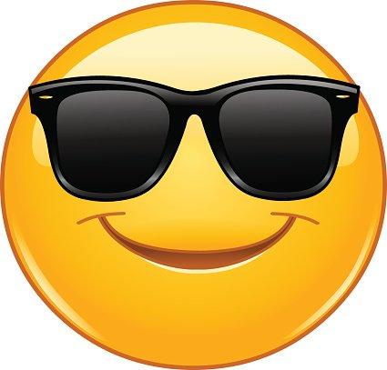 Winter Animal Wallpaper L 228 Chelnde Smiley Mit Sonnenbrille Premium Clipart