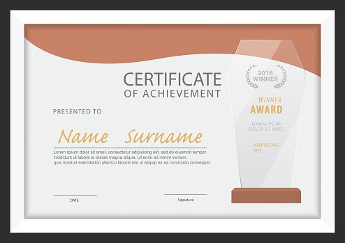 Certificate Template,diploma Layout,a4 Size ,vector premium clipart - certificate layout
