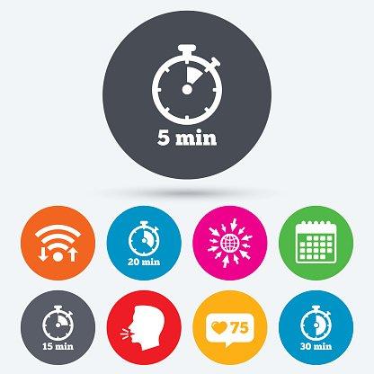 Timer Five Minutes Stopwatch premium clipart - ClipartLogo