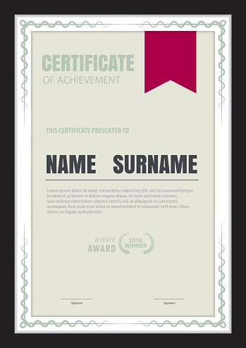 Certificate Template,abstract Diploma Layout,a4 Size ,vector premium - certificate layout