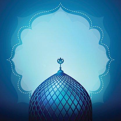 Islamic Design Banner Background Template premium clipart