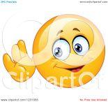 Listening Smiley Face Clip Art