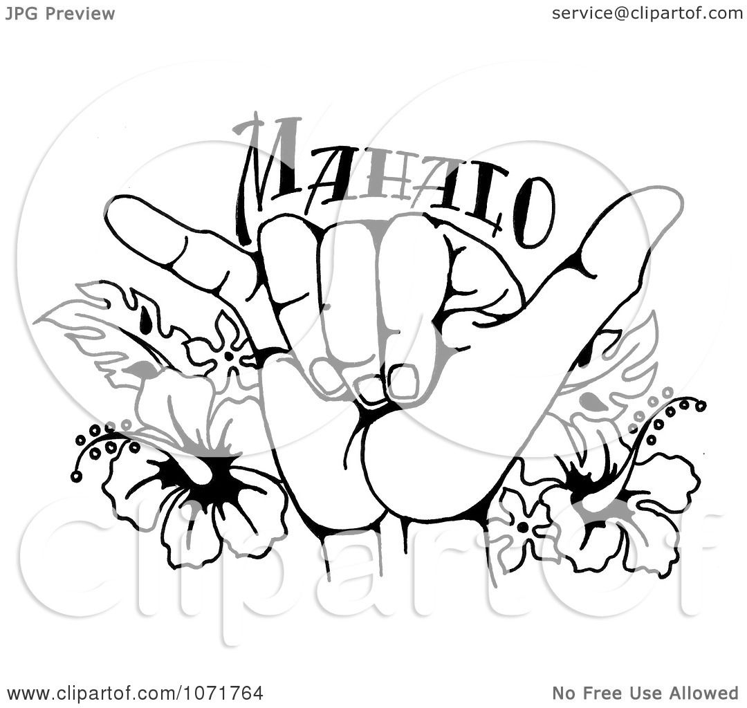 Cute Stitch Wallpaper With Glass Walls Clipart Black And White Hang Loose Shaka Hand And Hawaiian