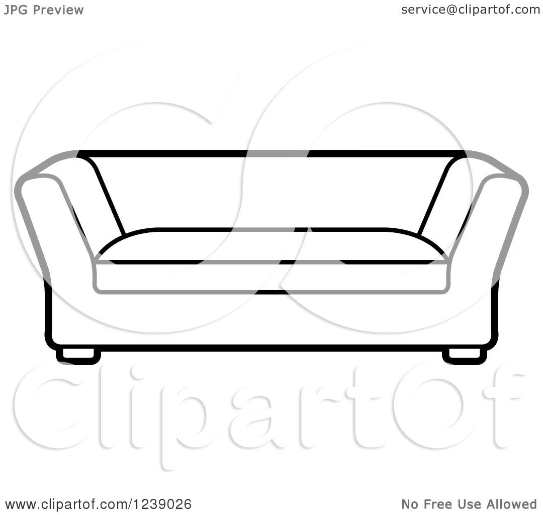 Sofa Vector Free Clipart Of A Black And White Sofa Royalty Free Vector