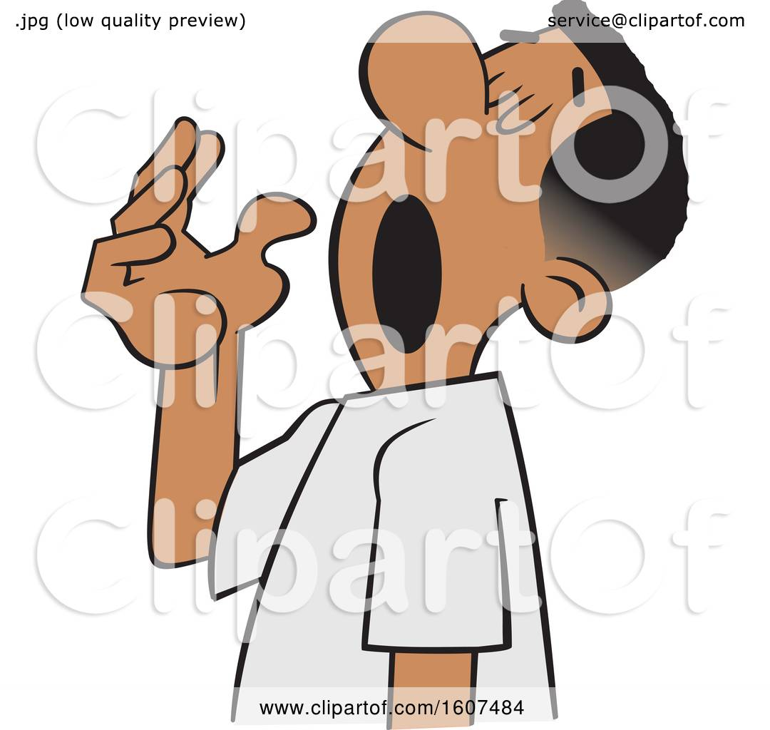 Clipart Of A Cartoon Black Man Preparing For A Big Yawn Royalty Free Vector Illustration By Johnny Sajem 1607484