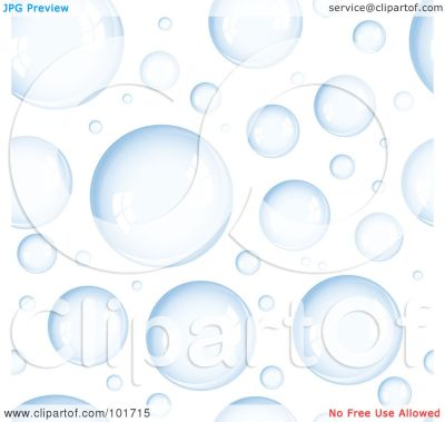 Royalty-Free (RF) Clipart Illustration of a Background Pattern Of Blue Bubbles On White by ...