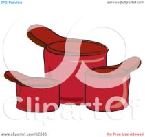 Illustration Of Three Red Kitchen Measuring Cups By Pams Clipart