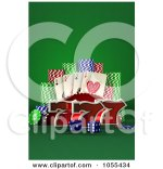 Playing Cards Poker Chips Clip Art