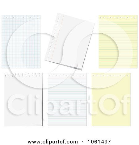 Royalty-Free Vector Clip Art Illustration of a Digital Collage Of - digital graph paper