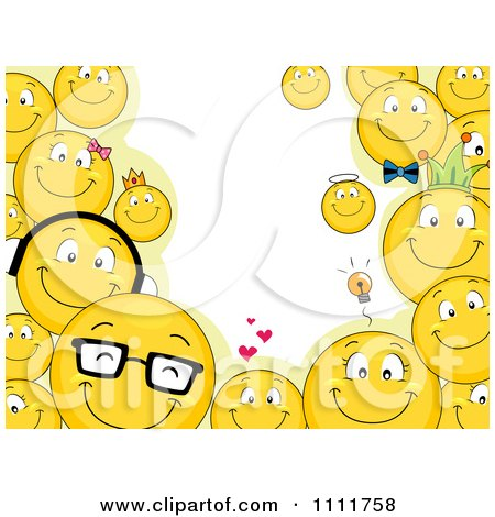 Emoticons Cute Wallpaper Clipart Of A Cartoon Yellow Smiley Face Emoticon Couple