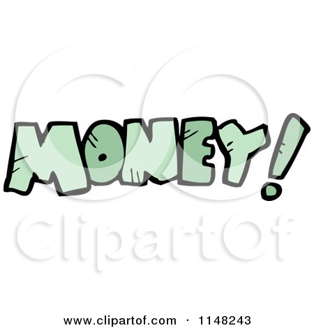 Cartoon of the Word Money - Royalty Free Vector Clipart by