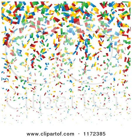 Falling Stars Grunge Wallpaper Clipart Of A Colorful Confetti Background Royalty Free