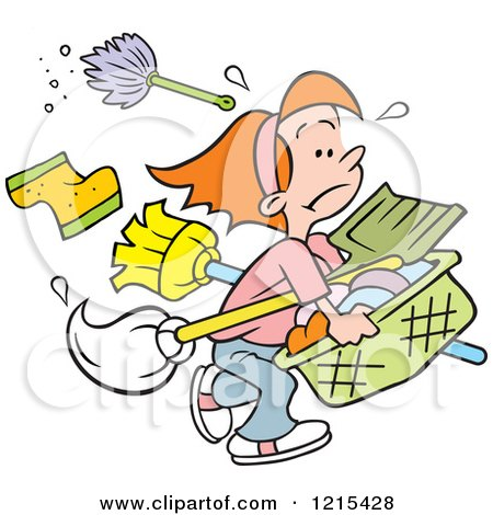 1215428-Cartoon-Girl-Carrying-Cleaning-Supplies-And-Laundry-For - birthday coupon templates free printable