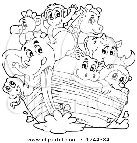 1244584-Black-And-White-Cute-Happy-Animals-On-Noahs-Ark-Poster-Art - birthday coupon templates free printable