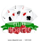 Poker Chips Cards Dice Banner Clip Art