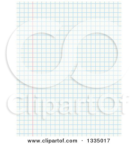 Clipart of a Sheet of Math Graph Paper - Royalty Free Vector - math graph paper