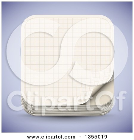 Clipart of a Sheet of Math Graph Paper - Royalty Free Vector - 3d graph paper