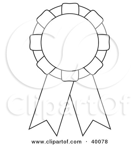 Clipart Illustration of Three Blank Black And White Cut And Color
