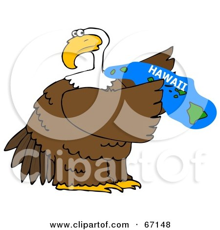 Royalty-Free (RF) Clipart Illustration of a Bald Eagle Holding A