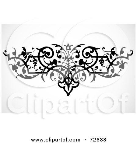 Royalty-Free (RF) Clipart Illustration of a Black And White Bold