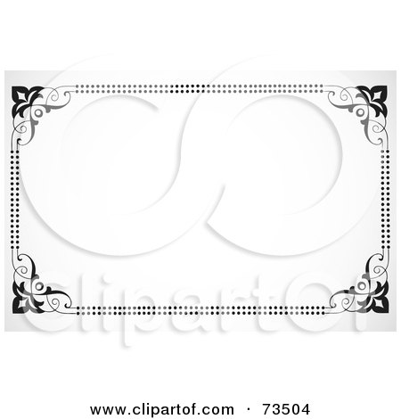 Royalty-Free (RF) Clipart Illustration of a Black And White Border