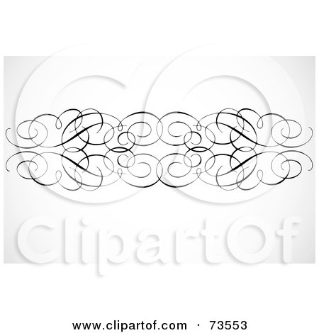 Royalty-Free (RF) Clipart Illustration of a Black And White Elegant