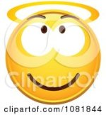 Smiley Face With Halo Clip Art
