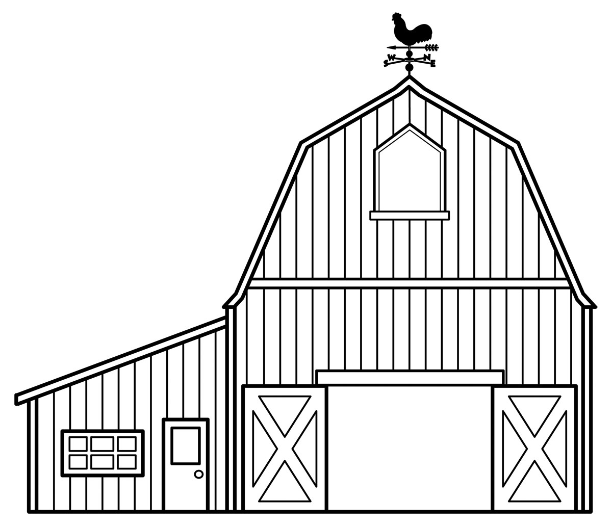 Barnyard Clipart Black And White Barn Clipart Black And White Clipart Panda Free