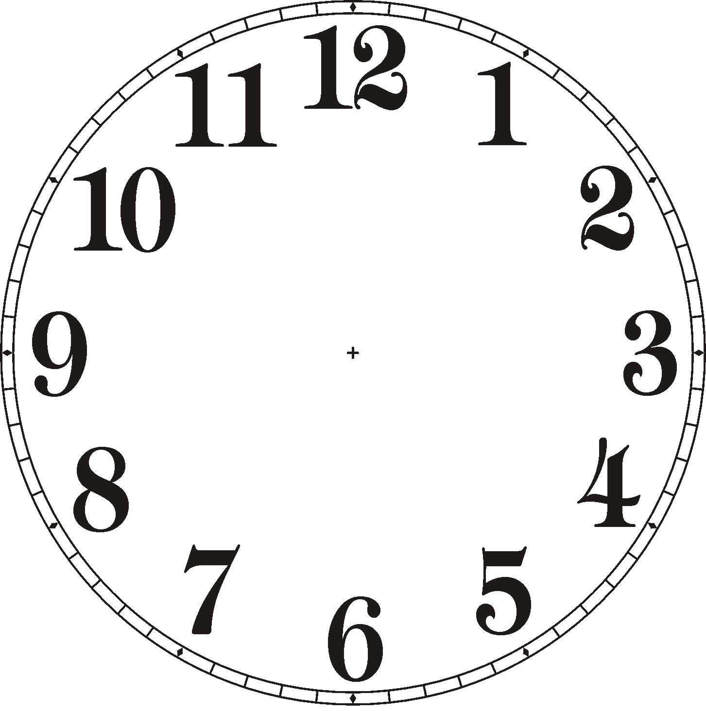 picture about Printable Clock Template referred to as clock fingers template -