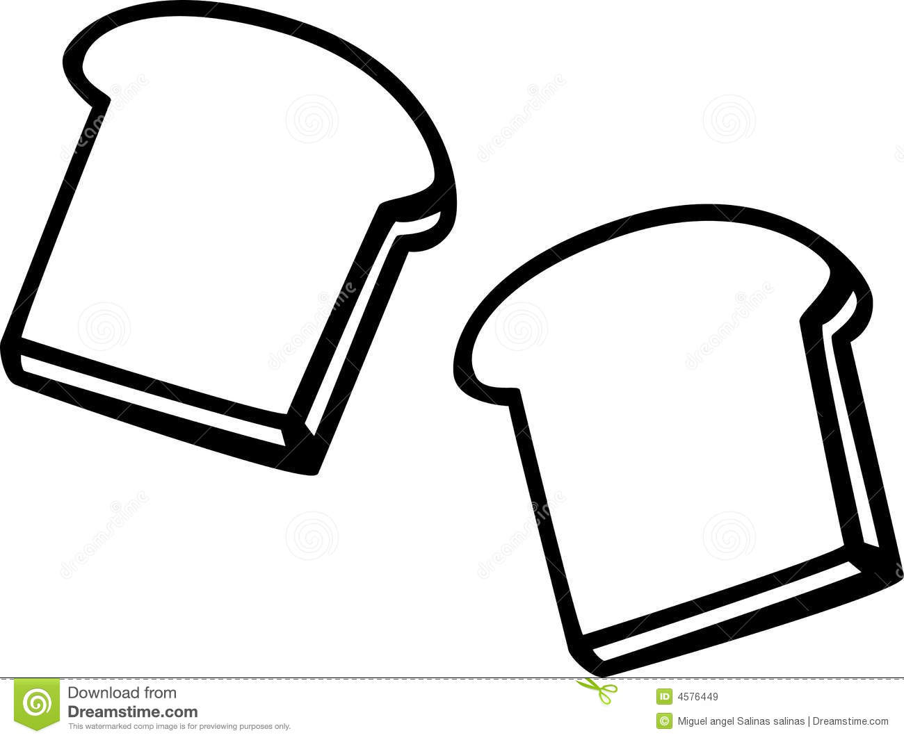 Loaf Clipart Black And White Slice Of Bread Clipart Black And White Clipart Panda