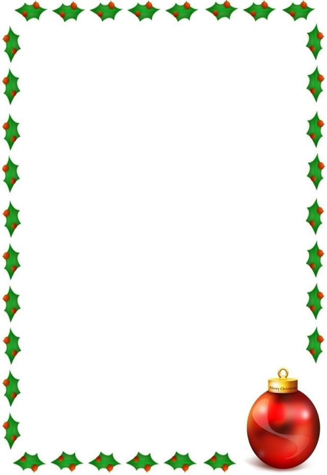 free christmas clipart borders printable - Idealvistalist - free christmas word templates
