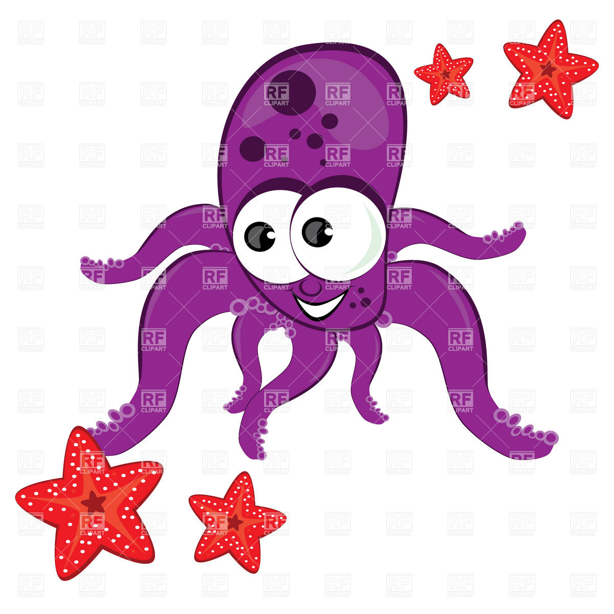 Purple Octopus Art Cute Starfish Clipart Clipart Panda Free Clipart Images