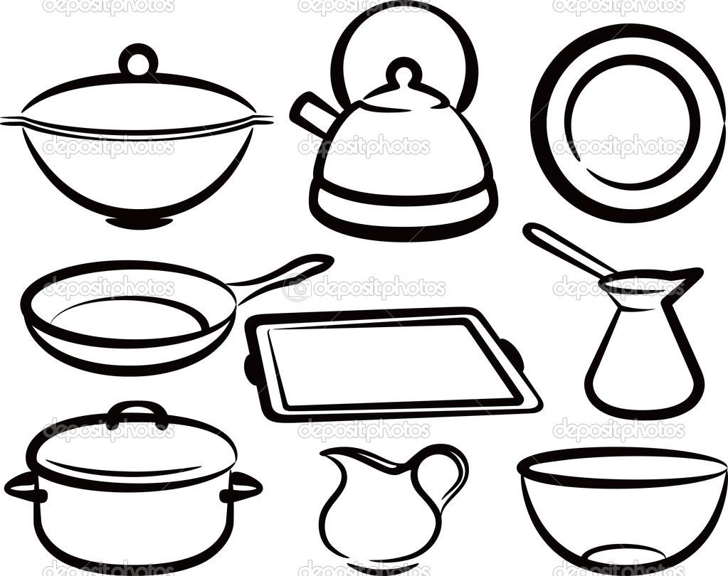 Kitchen Tools Drawing Kitchen Tools Drawing