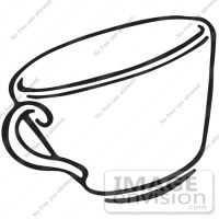 Teacup Clipart Black And White   Clipart Panda - Free ...