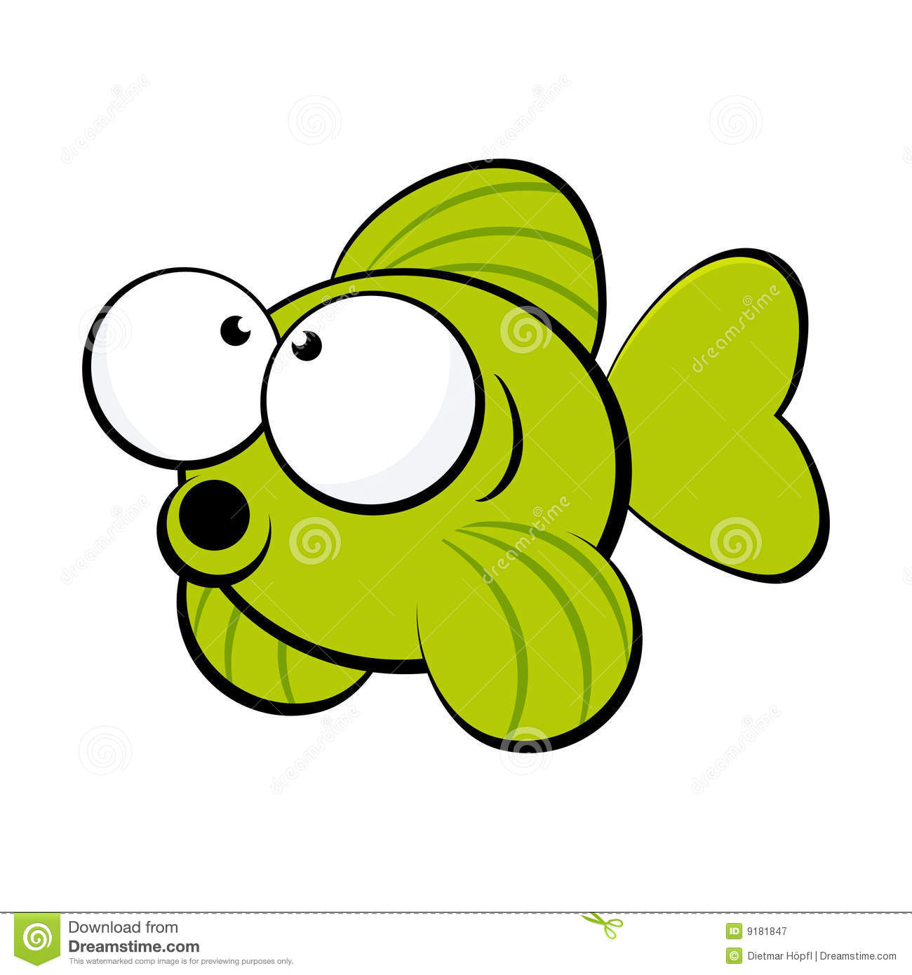 Cartoon Jumping Fish Clip Art