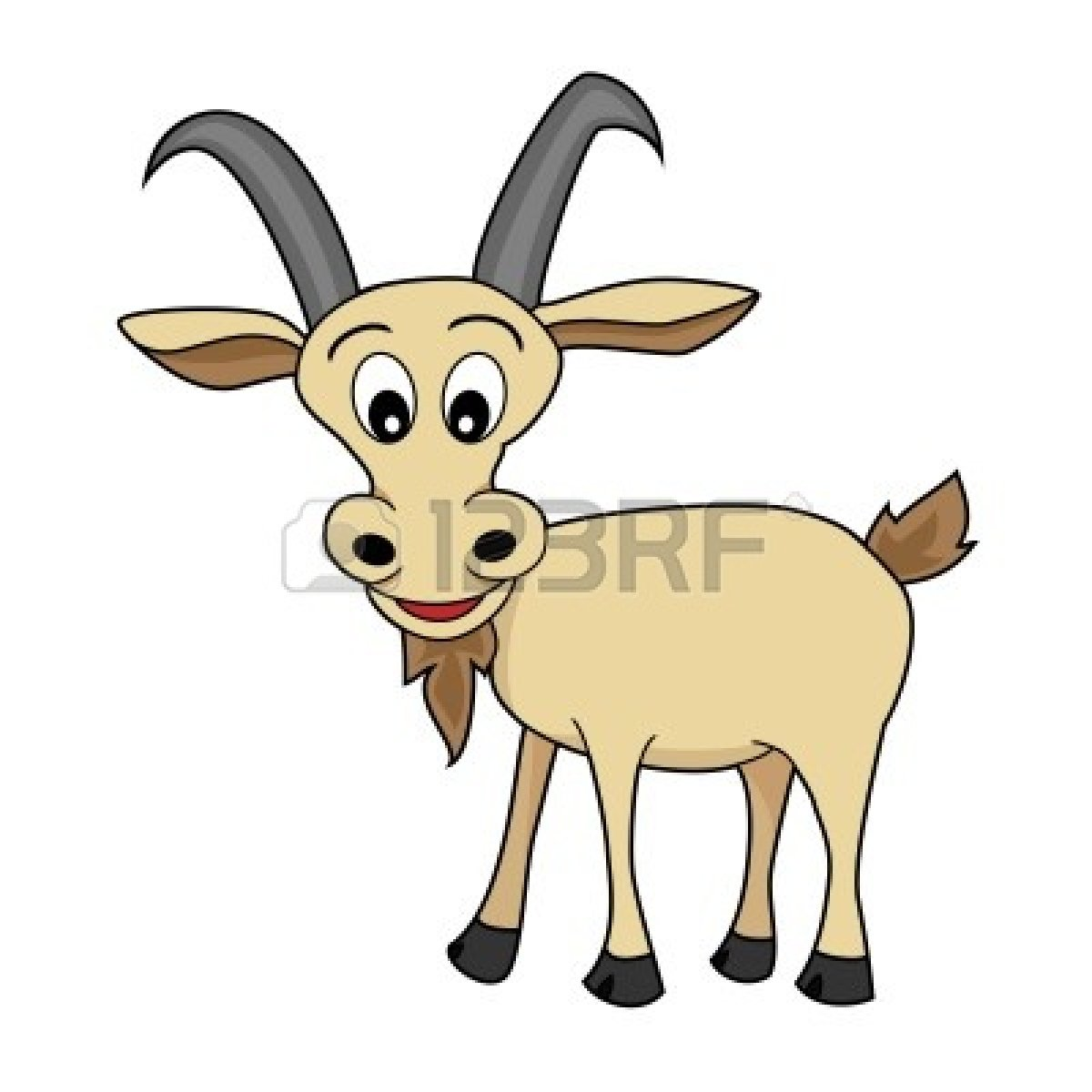 Cute Goat Clipart Billy Goat Cute Illustration Clipart Panda Free