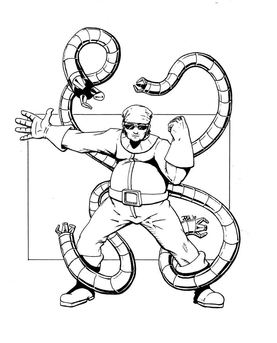 Doc Ock Coloring Pages - Eskayalitim