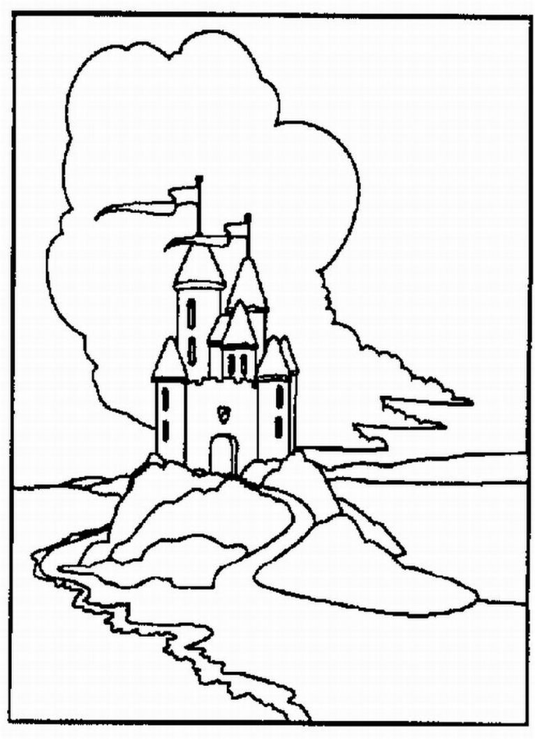 disneyland castles colouring pages