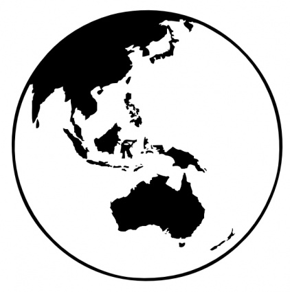 Globe Black And White Outline Clipart Panda - Free Clipart Images