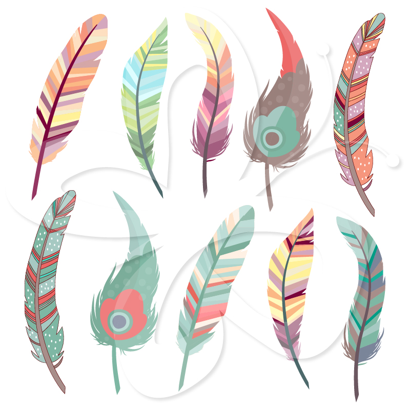 Cute Watercolor Wallpaper Feather Clipart Clipart Panda Free Clipart Images