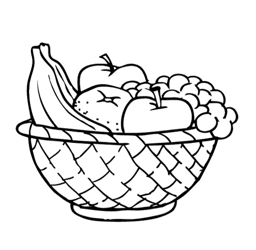 Fruit Basket Pictures For Kids Colour Drawing HD Wallpaper meyve - fresh coloring pages children's rights