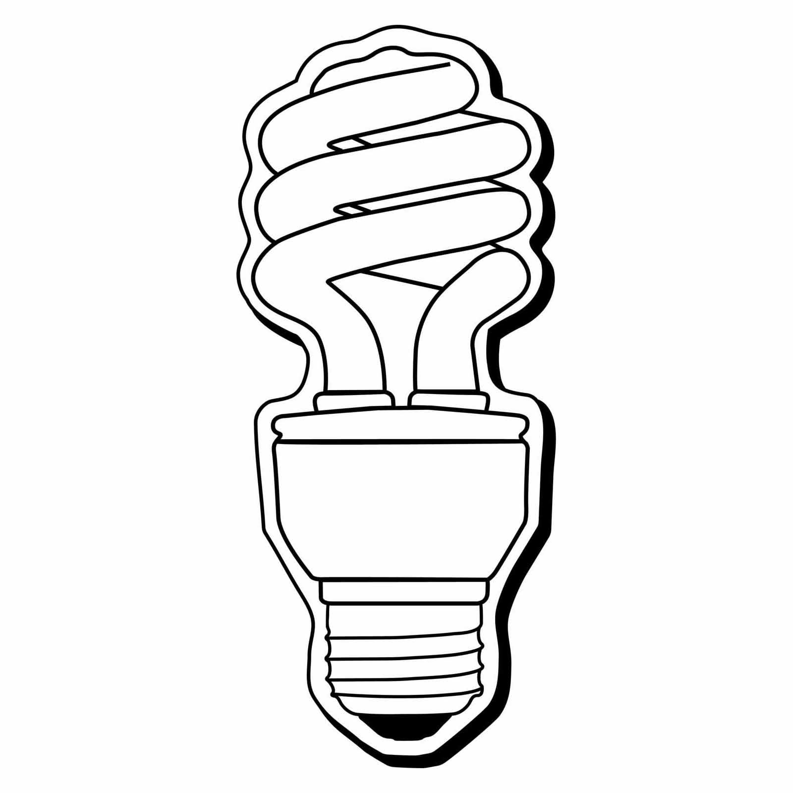 Fluorescent Tube Drawing Energy Saving Light Bulbs Clip Art Cliparts