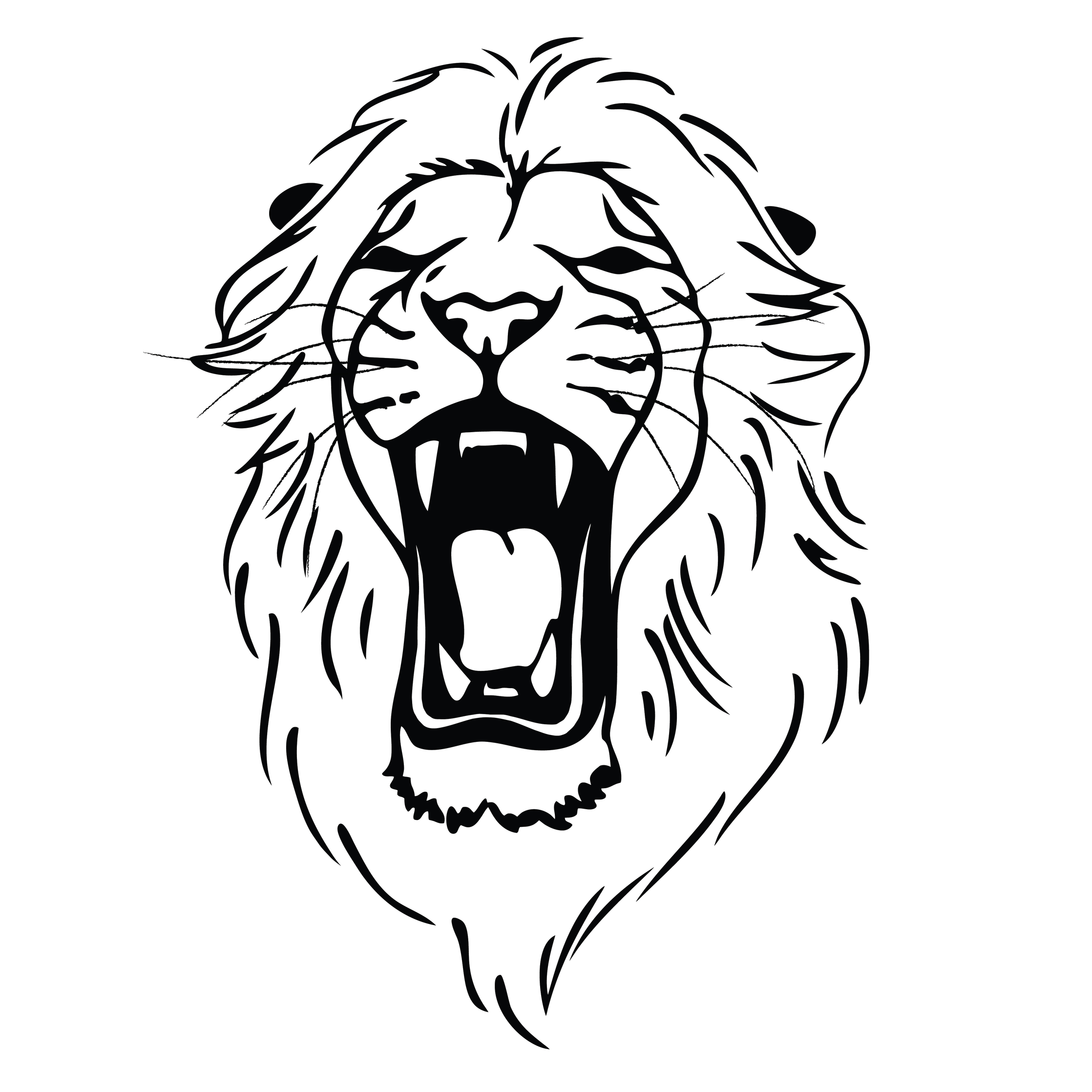 Roaring Lion Clip Art Black And White Roaring Lion Head Tattoo Clipart Panda Free Clipart Images