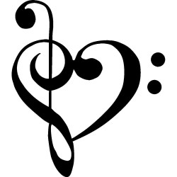 Small Crop Of Music Notes Heart