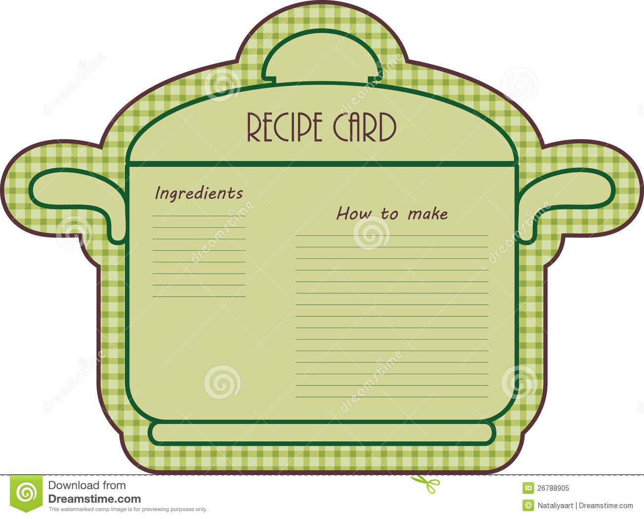 recipe card border